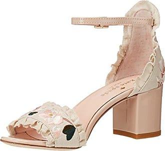 Kate Spade New York Womens Wayne Heeled Sandal, Pink Sand Linen, 5 Medium US