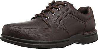 Rockport Mens Eureka Plus Mudguard Oxford, dark brown, 10.5 W US