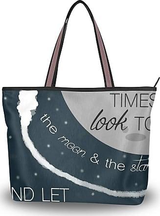 Lorona Women Inspirational Quotes Canvas Shoulder Hand Bag Large Capacity Tote Bag