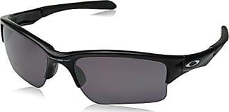 Oakley Mens Quarter Jacket Polarized Iridium Rectangular Sunglasses, Matte black, 61 mm