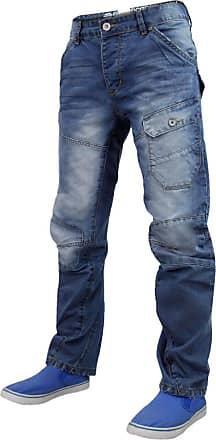 8c0736804c7 Crosshatch Mens Veirra Denim Jeans Stone Wash 30W 34L
