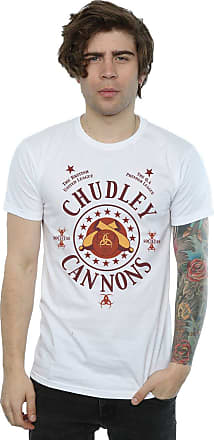Harry Potter Mens Chudley Cannons Logo T-Shirt Large White