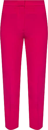 Alexander McQueen Pleat-front Trousers Womens Pink