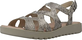 24 Horas Women Sandals and Slippers Women 24498 Gold 3.5 UK