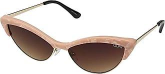 Quay Eyeware All Night (Peach Pearl/Brown) Fashion Sunglasses