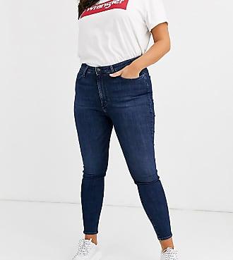 Wrangler Jeans skinny a vita alta-Blu
