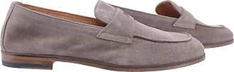 Doucal's Mens Loafers Wash Taupe Suede Gray