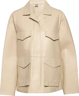 Totême Avignon Leather Jacket Läderjacka Skinnjacka Beige Totême