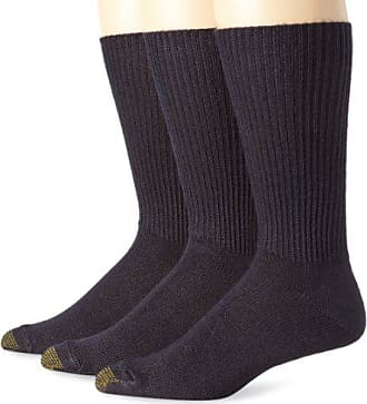 Gold Toe Mens Fluffies Sock, 3 Pack Extended, Navy, Size