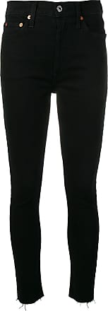 Re/Done high rise skinny jeans - Preto
