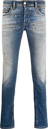 Diesel Calça jeans skinny destroyed - Azul