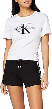 Calvin Klein Jeans Womens Stripe Logo Jogging Short, Black (CK Black BAE), 10 (Size:M)
