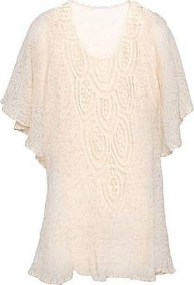 Eberjey Eberjey Woman Crochet-paneled Printed Cotton-gauze Coverup Ecru Size S/M