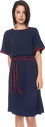 Enna Vestido Enna Curto Liso Azul-marinho/Vermelho