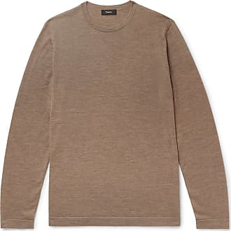 Theory Lievos Slim-fit Mélange Cashmere Sweater - Brown