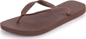 Havaianas Top Unisex Synthetic Flip Flops Dark Brown - 39/40 Brazilian