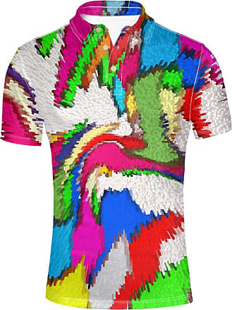 Hugs Idea Mixed Color Design Stylish Mens Regular Fit Jersery Sport Shirt Summer Hipster Short Sleeves T-Shirt