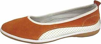 Coolers Ladies Summer Fruit Range Leather Ballet Pump Shoes - Orange - 4 UK