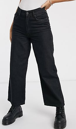 Noisy May wide leg jeans in black