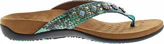 Vionic Floriana Womens Toe Post Sandals 3 Green