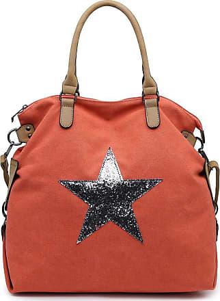 Craze London Womens Overnight Shoulder Bag,Oil Cloth Foldaway Printed Shoulder Handbag (Orange)