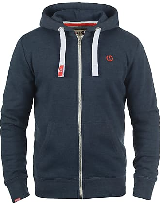 Solid BennZip Mens Zip Up Hoodie Sweat Hooded Jacket with Hood with Fleece Lining with Zipper, Size:M, Colour:Insignia Blue Melange (8991)