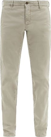 Incotex Slim-fit Stretch-cotton Blend Trousers - Mens - Grey