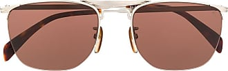 David Beckham DB 1001/S half rim geometric sunglasses - Prateado
