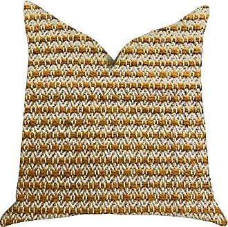 Plutus Brands Hamilton Braid Double Sided Luxury Throw Pillow 26 x 26 Brown/Orange