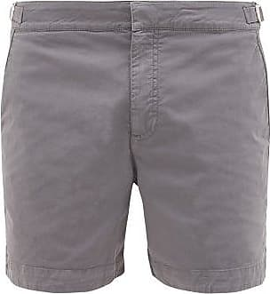 Orlebar Brown Bulldog Cotton-blend Twill Shorts - Mens - Grey