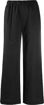 Aspesi Calça pantalona com cós elástico - Cinza