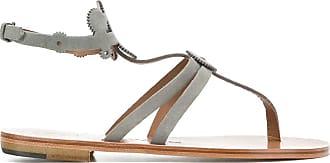 ÁLVARO GONZÁLEZ cog-detail thong sandals - Grey
