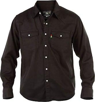 Duke London D555 Duke Western Authentic Denim Casual Shirt Black XXLarge