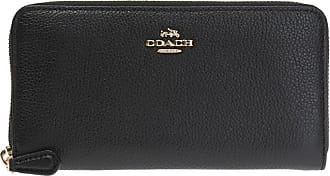Coach Wallet With Metal Logo Womens Black