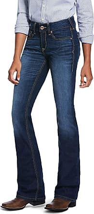 Ariat Womens R.E.A.L. Perfect Rise Stretch Sidney Boot Cut Jeans in Lita Cotton, Size 25 Short, by Ariat