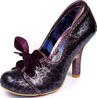 Irregular Choice Chips & Gravy Purple Black Womens Hi Heels