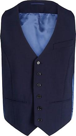 Bertoni Vinter Waist Coat Vest Herre Dark Blue Klær Jakker