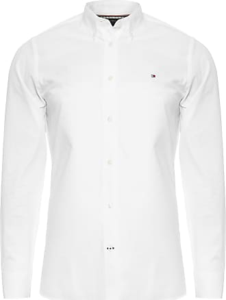 Tommy Hilfiger CAMISA MASCULINA NATURAL SOFT END ON - BRANCO