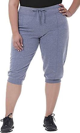 Fruit Of The Loom Womens Plus Size Seamed Capri Jogger Pant, Silver Cross dye Heather, 1X
