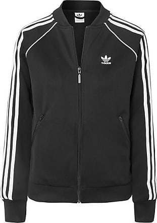 adidas Originals Striped Stretch-jersey Track Jacket - Black