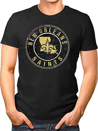 OM3 New-Orleans-Badge - T-Shirt | Mens | American Football Shirt | 3XL, Black