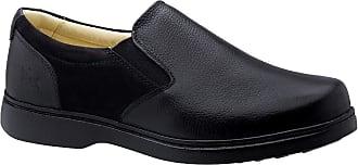 Doctor Shoes Antistaffa Sapato Masculino Especial Neuroma de Morton em Couro Floater Preto 415 Doctor Shoes-Preto-37