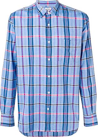 Aspesi Camisa xadrez - Azul