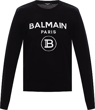 Balmain Logo Sweater Mens Black