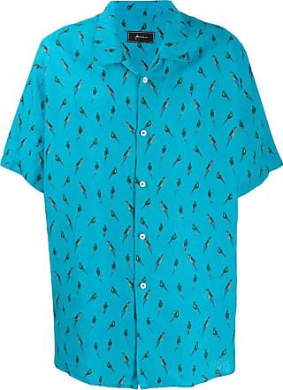 Paura Camisa com papagaio Petra - Azul
