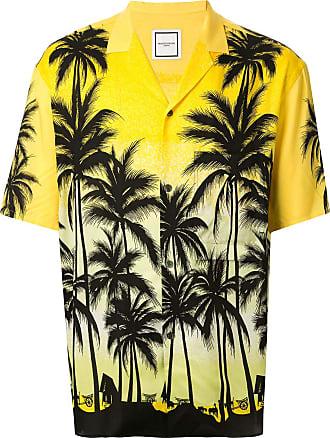 Wooyoungmi Camisa mangas curtas com estampa tropical - Amarelo