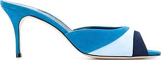 Manolo Blahnik Sandali con design color-block Sue - Di colore blu