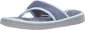 Dearfoams Womens Melanie Terry Thong with Quilted Footbed Slipper, Indigo, XL
