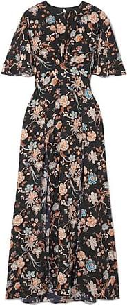 01a7dd6038 Les Rêveries Floral-print Silk Crepe De Chine Maxi Dress - Black