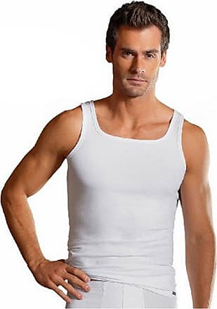 Jockey Mens Modern Stretch Cotton-Lycra Vest Underwear - White - 2XL